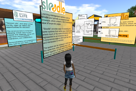 Ma visite second life du stand Sloodle